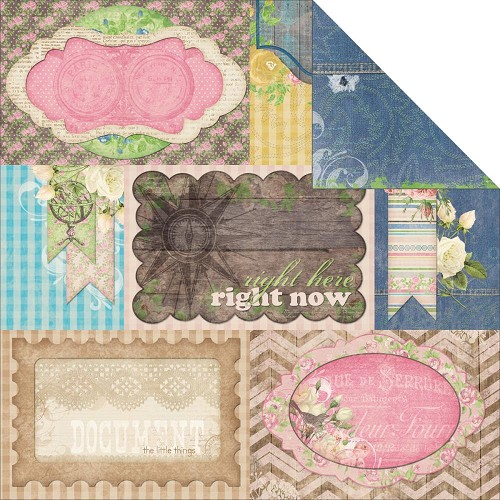 21671 Bo Bunny Prairie Chic 2-Sided Paper Stonewashed Denim.
