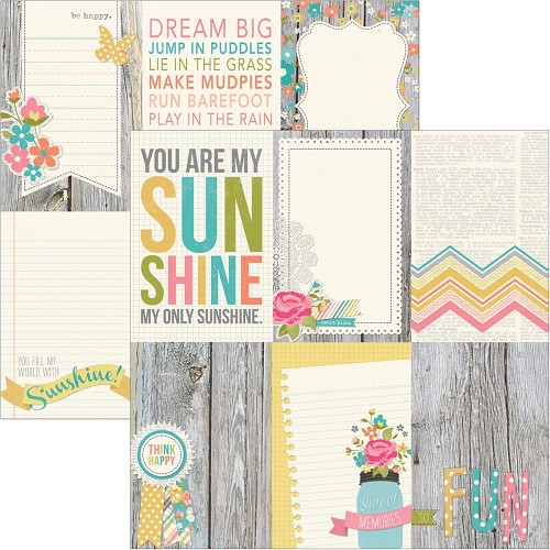 22080 Simple Stories Vintage Bliss 2-Sided Paper Vertical Journaling Cards.