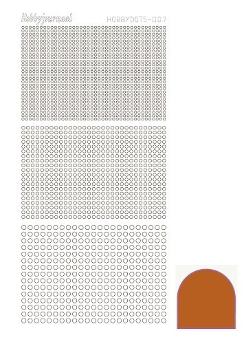 22273 Hobbydots sticker - Serie 007 Mirror - Copper.