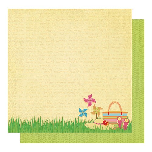 22575 Best Creation Sunny Days Glittered 2-Sided Paper Summer Time.