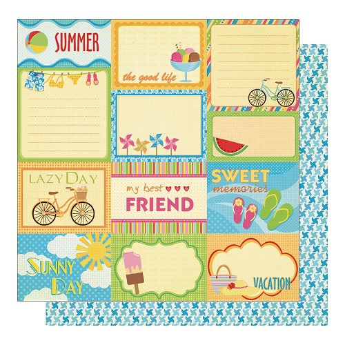 22576 Best Creation Sunny Days Glittered 2-Sided Paper Tags.