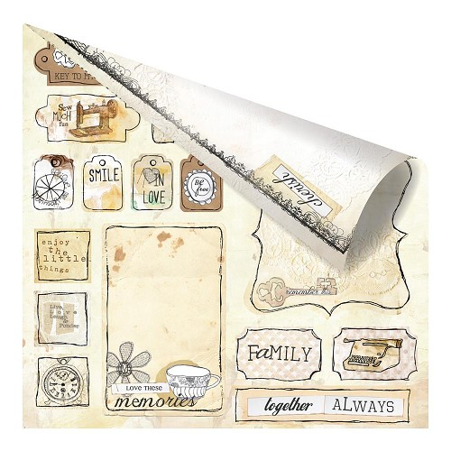 22628 Prima Lifetime Collection 2-Sided Paper Love Tags.