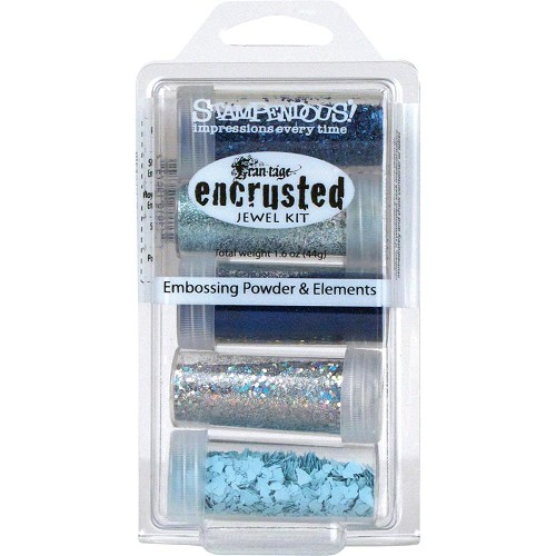 23020 Stampendous Encrusted Jewel Kit Blue.