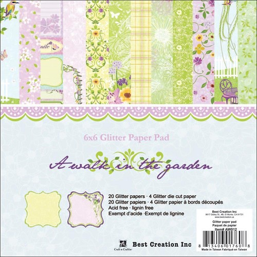"23525 A Walk In The Garden Double-Sided Paper Pad 6""X6"" 24/Sheets."