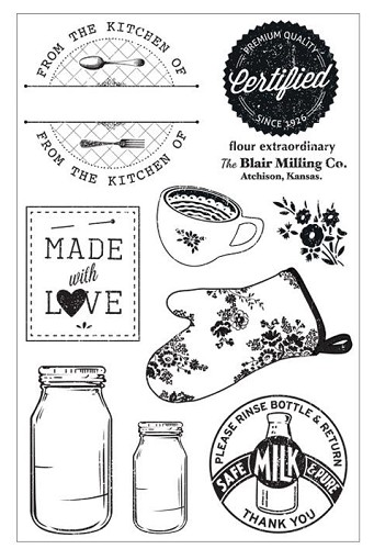 23529 Country Kitchen Clear Stamps 16x21 cm.