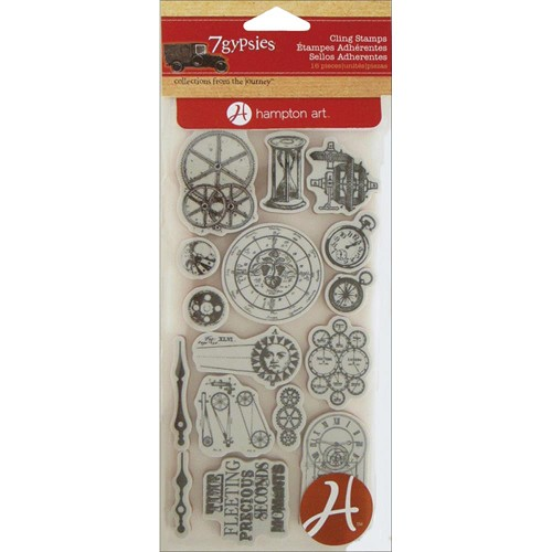 23583 7 Gypsies Cling Stamp 10x29 cm Time Pieces.