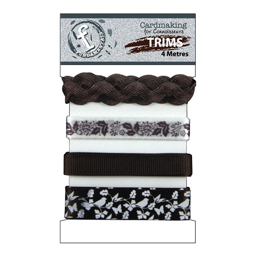 23716 Fundamentals Trims Dark Brown/White 4 Meters/Pkg.