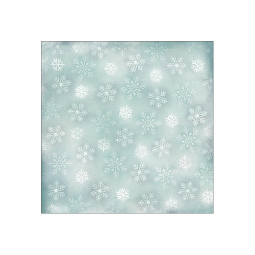 23901 Karen Foster Paper 1-Sided Winter Falling Snowflakes.