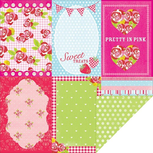 23902 Kaisercraft Tea Party 2-Sided Paper Peppermint.