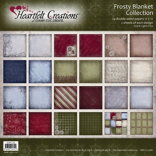 "23911 Heartfelt Double-Sided Paper Collection 12""X12"" 24/Sheets Frosty Blanket."