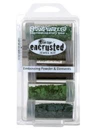 23962 Stampendous Encrusted Jewel Kit Green.