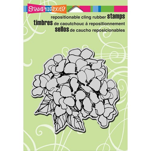 24055 Stampendous Cling Rubber Stamp Hydrangea Bunch 10x10 cm.