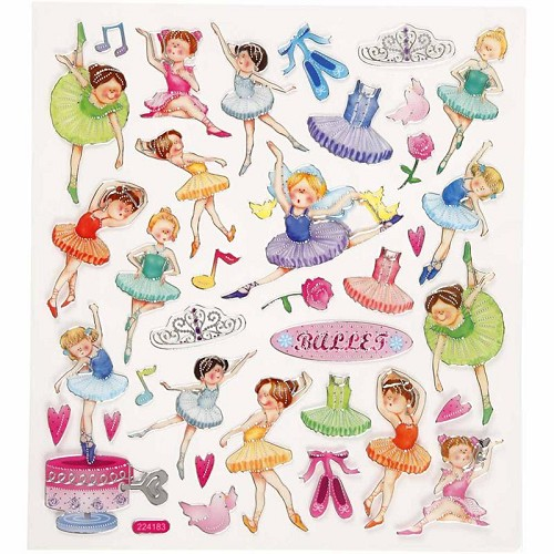 24186 Fancy Stickers 15x16,5 cm Ballerina 1 Vel.