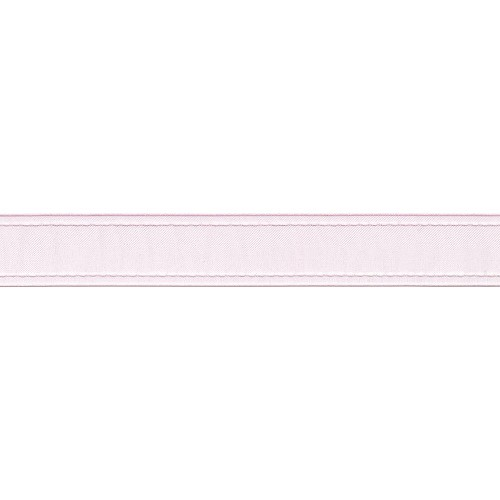 24260 Sheer Ribbon W/Stitched Edge Pink 23mm x 1 Meter.