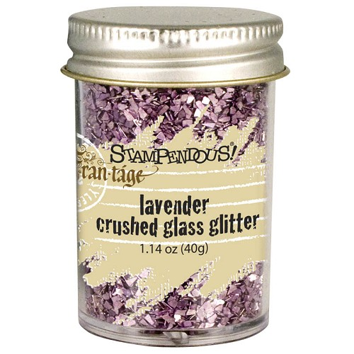 24267 Stampendous Crushed Glass Glitter Lavender.