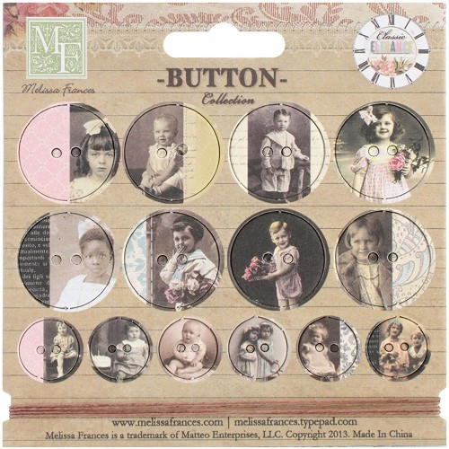 24270 Adopted Ancestors Chipboard Buttons 14/Pkg & 1 Yard Of Twine.