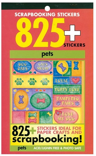 24275 Scrapbooking Stickers 825+/Booklet Pets.