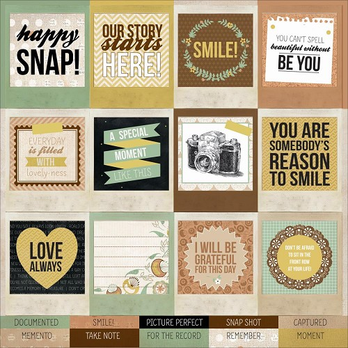"24283 Kaisercraft Take Note Collection Perforated Tags 12""X12"" Sheet Snapshot."