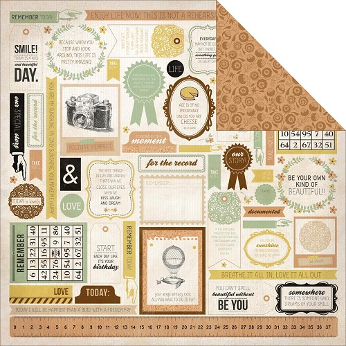 24289 Kaisercraft Take Note Collection 2-Sided Paper Journal.
