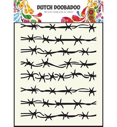 24371 Dutch Doobadoo Dutch Mask Art -A5 - Barbed Wire.