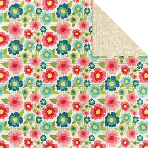 24516 Echo Park Beautiful Life 2-Sided Paper Floral.