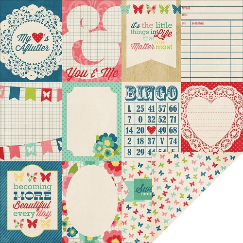 24517 Echo Park Beautiful Life 2-Sided Paper Journaling Cards.