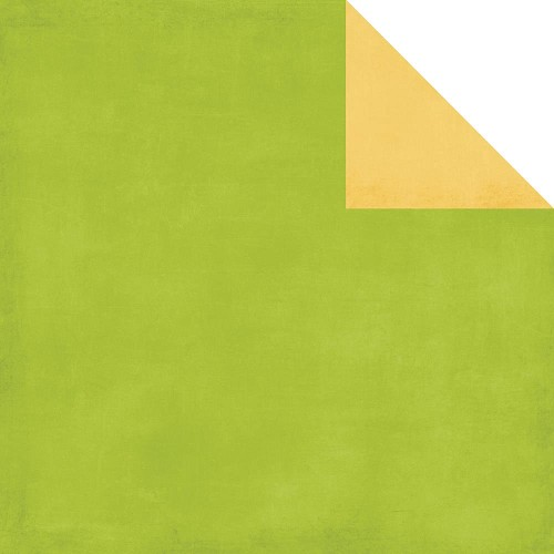 24523 Echo Park Beautiful Life Double-Sided Distressed Solid Cardstock Green/Yellow.