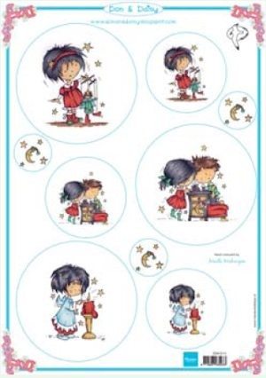 24676 (959) MD Don & Daisy Christmas Card Topper 2 (DDK3212).