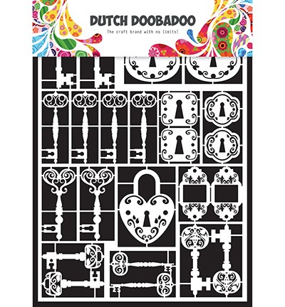 24877 Dutch Doobadoo Dutch Paper Art A5 Keys.
