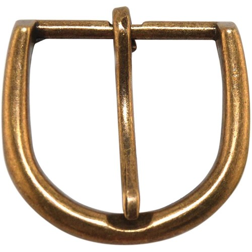 24954 Round Buckle 1/Pkg Antique Gold 5x5 cm.