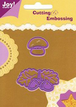 25100 Joy Crafts Cutting & Embossing Paddestoel - Eikenblad (6002/0058).