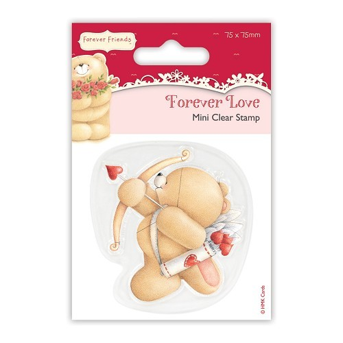 25232 Docrafts 75 x 75mm Mini Clear Stamp - Forever Love - Cupid.