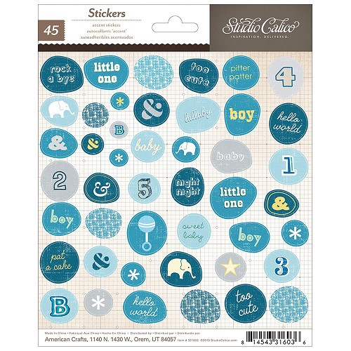 "25403 Story Time Boy Cardstock Stickers 6""X6""Accent Phrase & Shape."