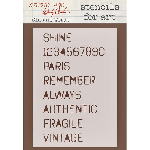 25729 Wendy Vecchi Studio Stencil Collection Classic Words.