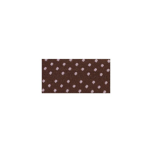 "25761 Fold Over Elastic 1""X1 Yard Brown/Pink Dot."