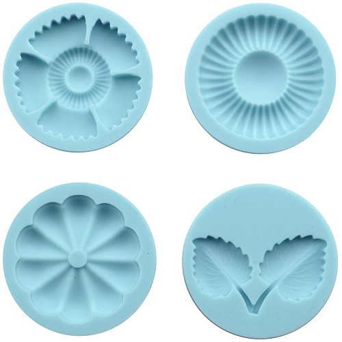 25789 Martha Stewart Crafter`s Clay Silicon Molds 4/Pkg Graceful Bloom.