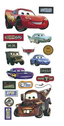 25836 Disney Cars Stickers/Borders 14x30,5 cm.