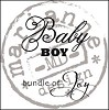 26852 Clear Stamp Baby Boy UK (CS0889).