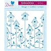 26985 Bird Houses - 6in x 6in Embossalicious Embossing Folder.