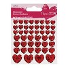 29818 Papermania Shimmer Heart Stickers Rood.