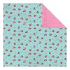 30678 Authentique Crush Double Sided Paper Sweet Flower Bunches Dot/Distress Pink.