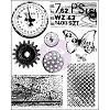 32343 Prima Marketing Finnabair Cling Stamps Sheet 15x19 cm Rust & Dust.