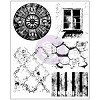 32344 Prima Marketing Finnabair Cling Stamps Sheet 15x19 cm Old Town.