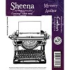 33057 Sheena Individual EZMount stamps - Mystery Author 9,5x10 cm.