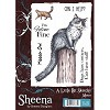 33122 A Little Bit Sketchy Stamp A6 Set - Meow by Sheena Douglass Unmounted.