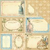 34270 Graphic 45 Gilded Lilly Double Sided Paper 30,5x30,5 cm Tres Chic (4501132).