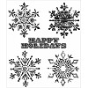34741 Tim Holtz Cling Rubber Stamp Set Weathered Winter (CMS245). - 34741