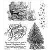 34742 Tim Holtz Cling Rubber Stamp Set Christmas Magic (CMS247).