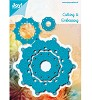 34882 Joy Crafts Cutting & Embossing Blauwe Mal Rond (6002/0458). - 34882