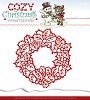34949 Die - Yvonne Creations - Cozy Christmas - Wreath (YCD10035).